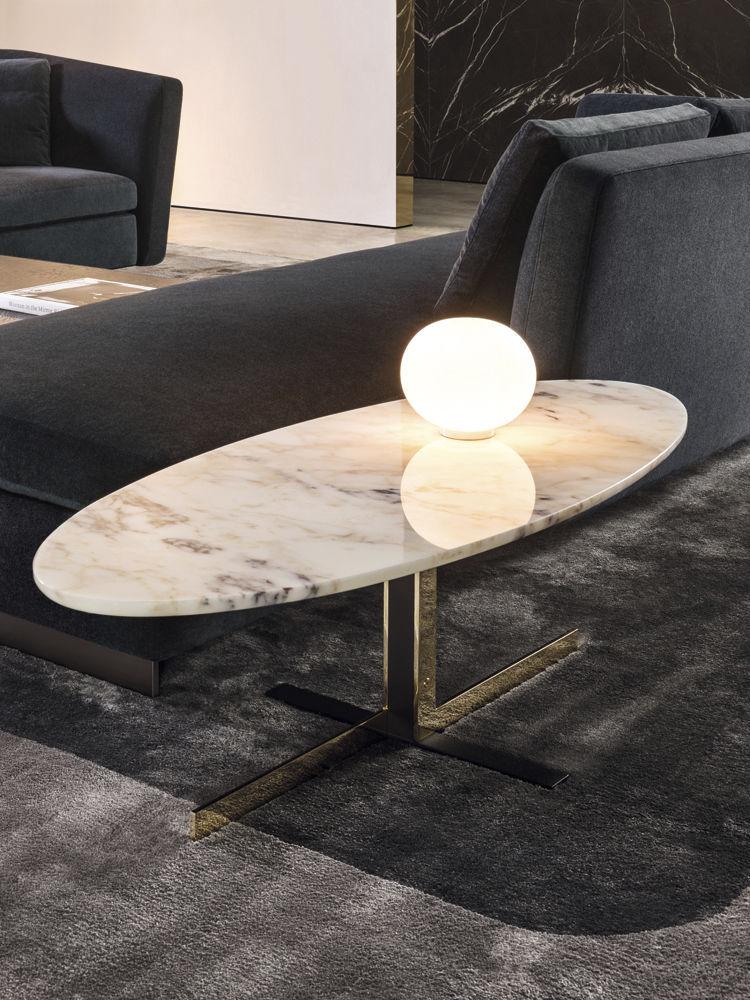 Table basse marbre beige