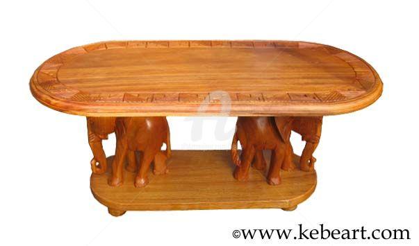 Table basse bois africain