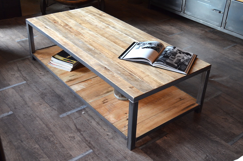 Table basse design en palette