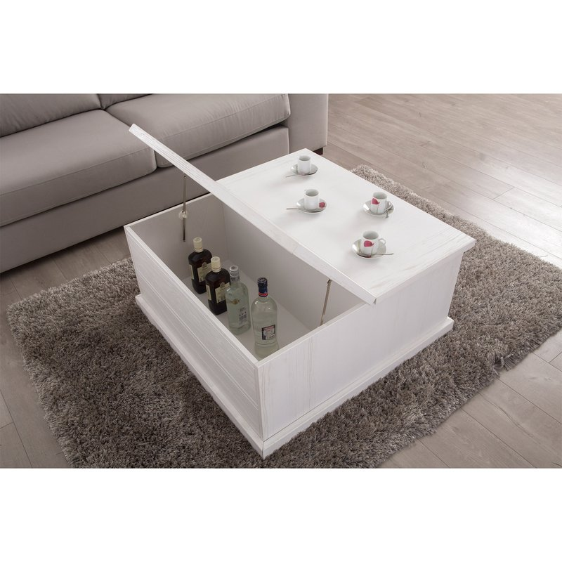 Table basse coffre plateau relevable