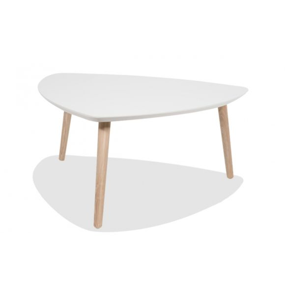 Table basse scandinave pied blanc