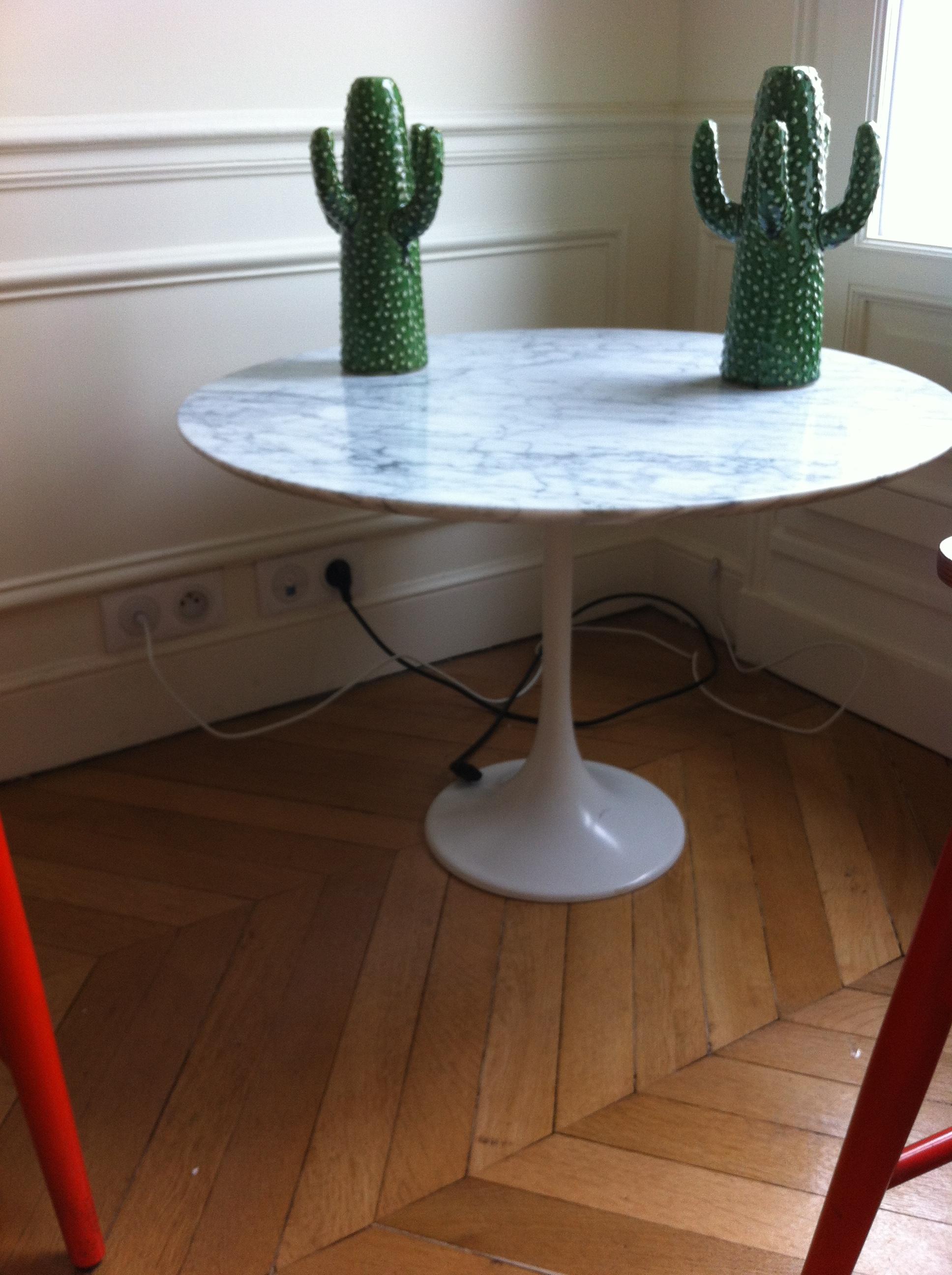 Table basse marbre tulipe