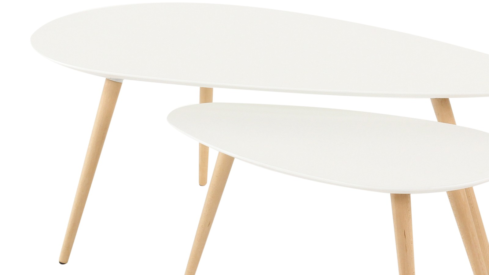 Table basse scandinave gigogne blanche