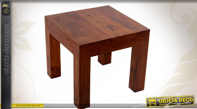 Petite table basse bois brut