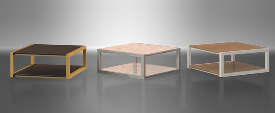 Table basse bois plexi