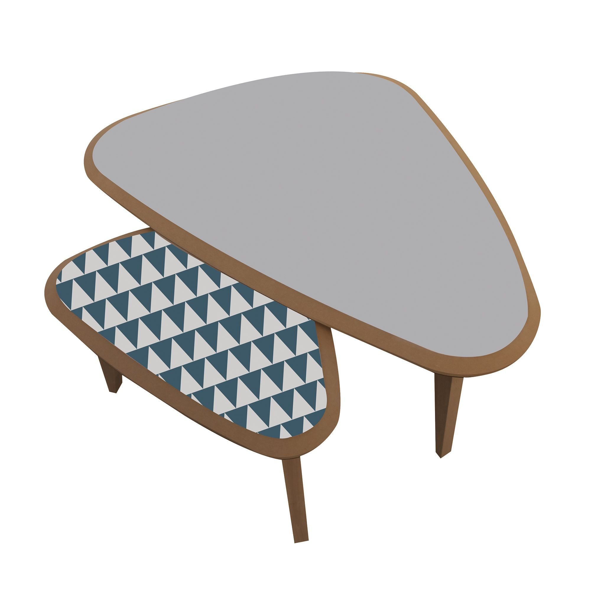 Table basse alinea grise