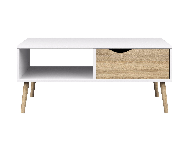 Table basse scandinave 1 tiroir