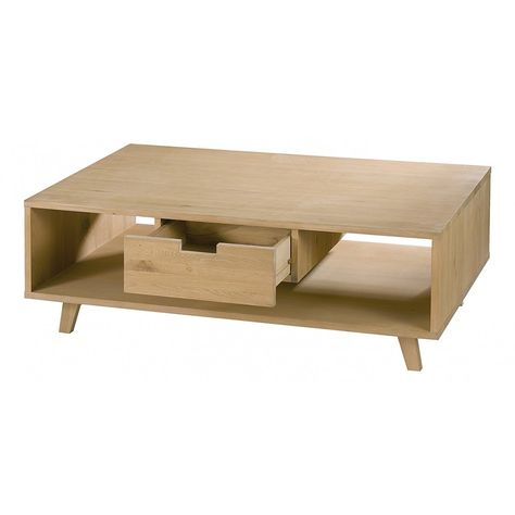 Table basse scandinave 1 tiroir