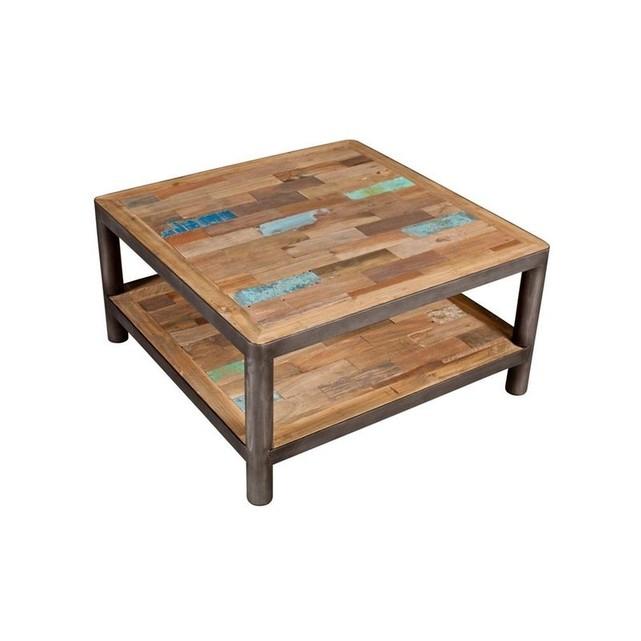 Table basse en bois carree
