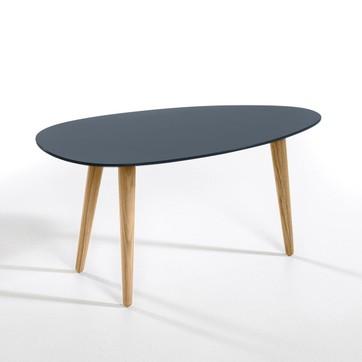 Table basse relevable à rallonge noir laqué ella