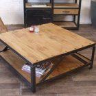 Plan table basse fer et bois
