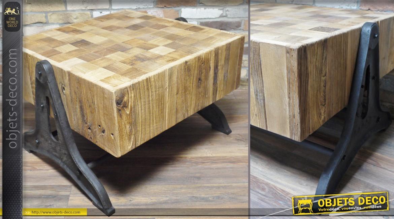 Billot de bois table basse