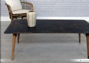 Table basse bois 70x70 carrée gerarda
