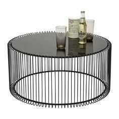 Table basse ronde acier filaire