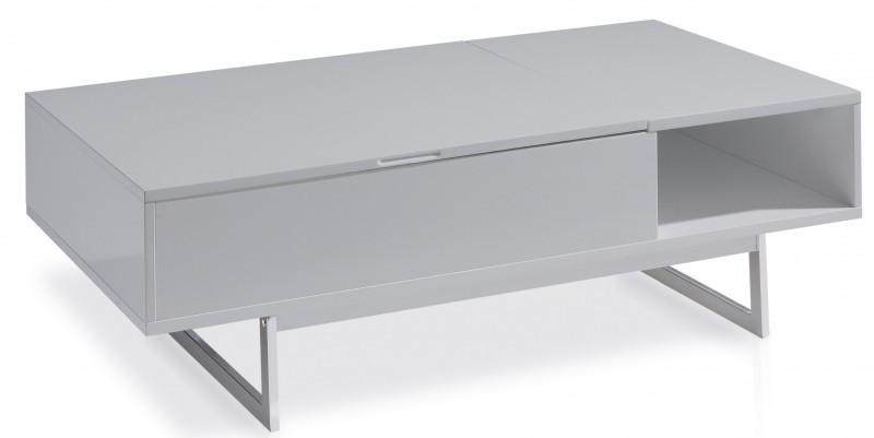Table basse relevable gris laque