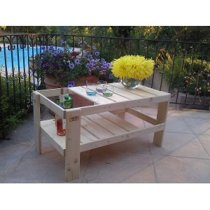 Table basse jardin en palette