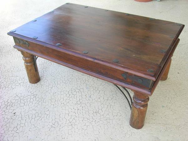 Table basse salon bois exotique
