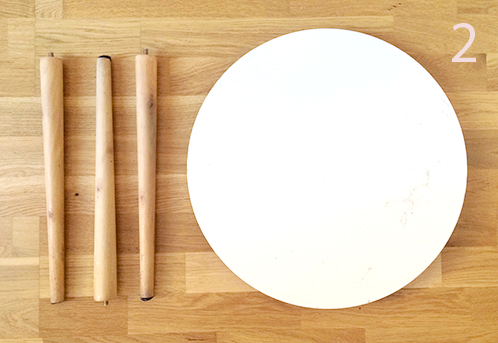 Pied pour table basse scandinave