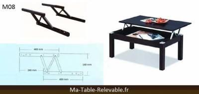 Table basse avec plateau relevable pas cher