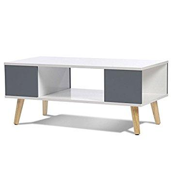Table basse scandinave blanche et gris