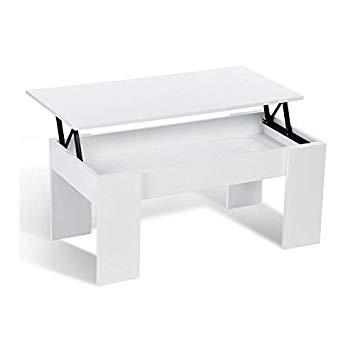 Table basse en bois avec plateau