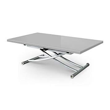 Table basse relevable extensible noir et blanc studio