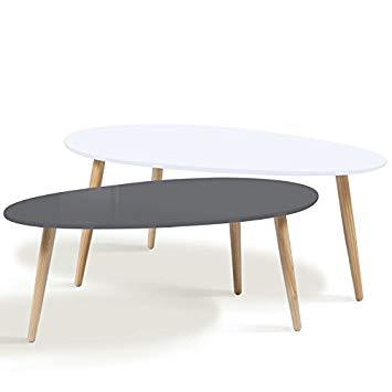 Table basse gigogne scandinave grise