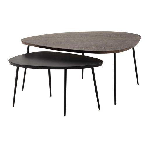 Maison du monde table basse bois ovale