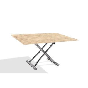Table basse relevable et extensible sharo chêne clair