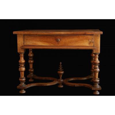 Table basse bois style louis xiv