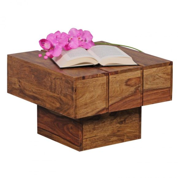 Table basse en bois de sheesham massif