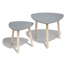 Table basse scandinave 2 tiroirs gris 'vintage grey'