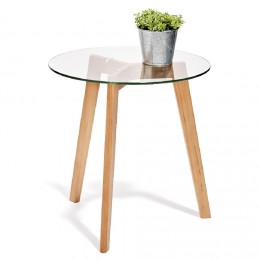 Table basse scandinave rose