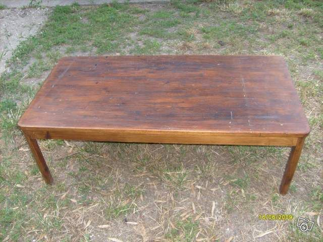 Table basse scandinave cannage