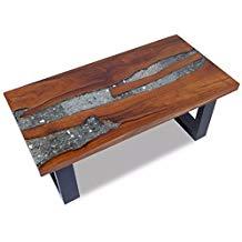 Table basse bois brut tronc