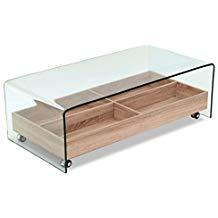 Table basse verre bois habitat