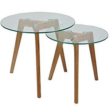 Table basse verre scandinave