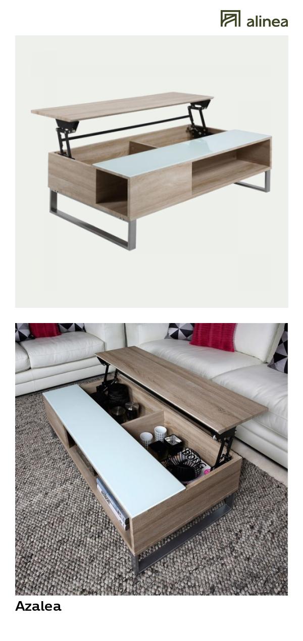 Table basse laquée avec plateau relevable alinea
