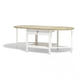 Gifi table basse gigogne blanc/taupe