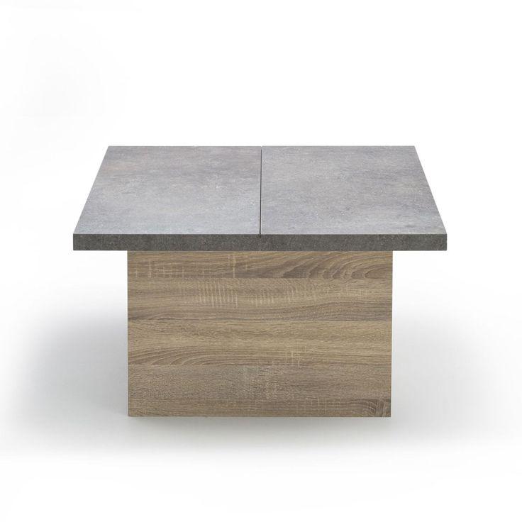 Table basse rectangulaire bois alinea