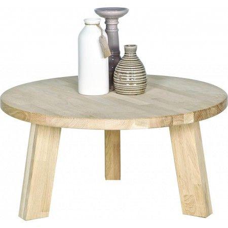 Table basse ronde chene massif