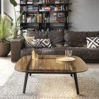 Table basse en bois rectangulaire plateau pivotant l80 cm bristol