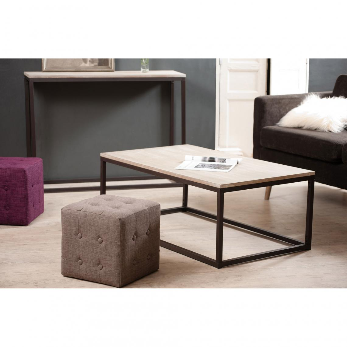 Table basse bois 3 suisses