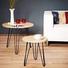 Table basse scandinave metal noir