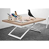 Table basse relevable extensible large