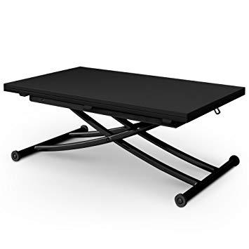 Table basse escamotable en bois