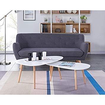 Table basse scandinave blanc mat