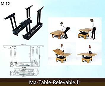 Mécanisme de plateau relevable pour table basse m09