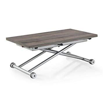 Table basse relevable chêne gris