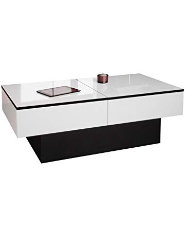 Table basse relevable chocolat